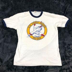 Hanes Vintage 70s T-Shirt US COAST GUARD Sz L